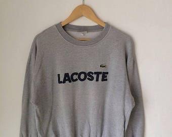 MEGA SALE Vintage Lacoste Big Log Hip Hop Big Logo Lacoste Sweatshirt