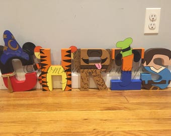 Disney Letters/ Mickey Mouse decorations/ disney party/ disney up/ disney cars/ disney decor/ disney party/ character letters