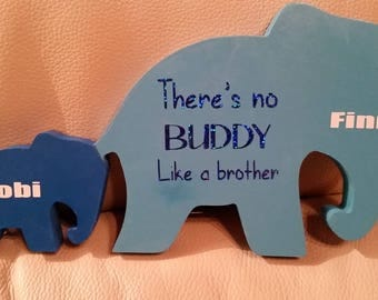Personalised Brother Elephants