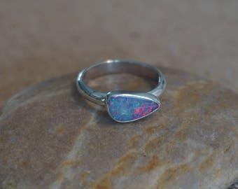 Handmade Sterling Silver Opal Ring