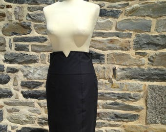 Cigarette high waist skirt vintage 50's model