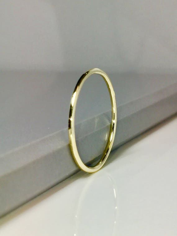 BIG SALE 14k 10k Solid Gold Midi Ring Thin Gold Wedding Band