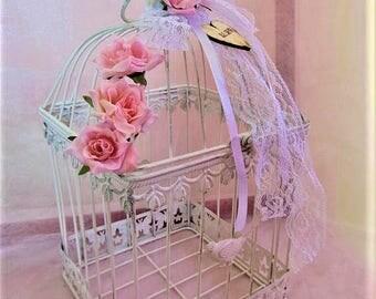 Personalised Birdcage Card Holder,Table Centerpiece,Rustic Centerpiece,Reception Card Holder, Birdcage Decor, Bridal Shower Birdcage,Shabby