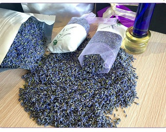 10 Pouches Aromatic Natural Dried Lavender Flower Bud Sachets