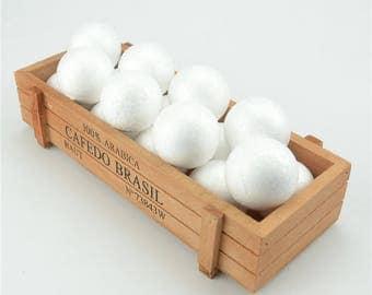 20 Pcs (4 cm) Polystyrene Styrofoam Foam Craft Balls
