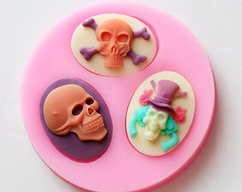 Skull Skeleton Design Silicone Mold