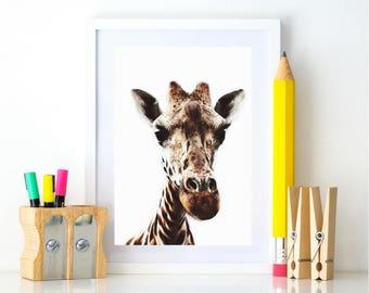 Giraffe Nursery Printables, Kids room decor, Safari Decor, Giraffe Print, Downloadable animal prints, Safari Animals, Safari Theme