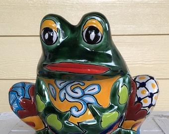 Talavera Frog Pot / Talavera Pottery / Talavera Pot / Frog Pot / Frog Planter / Talavera Planter / Garden Frog