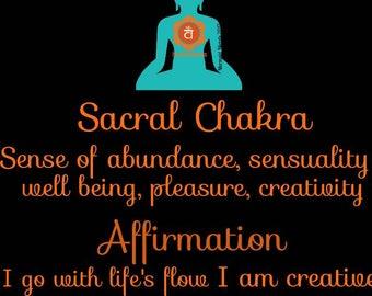 Sacral Chakra candle/ Meditation Candle/ Self-love Candle/ Love Candle /Blessed Candle /Prayer Candle Affirmation Candle /Attraction Candle