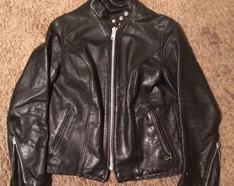Vintage 1980s Cafe Racer Moto Leather jacket