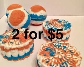 4th of july bath bombs/ Red white and blue/ patriotic/ holiday bath bombs/ bath bomb