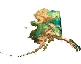 Alaska Topography Print