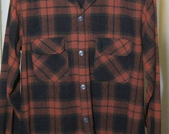 Vintage 1970's Plaid Board Shirt by Oxford
