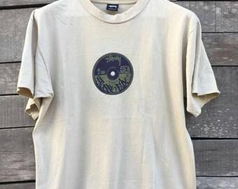 Vintage stussy flix classic stussy t shirt high fashion 90s