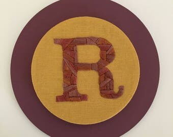 R is for Rigorous - Embroidered Letter