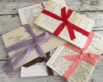 Vintage Set of 10 Recipe Cards ~ Typed and Handwritten ~ 4x6