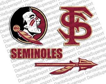 FSU Seminoles SVG, dxf, PNG, eps, cdr, Vector, Digital Cut File