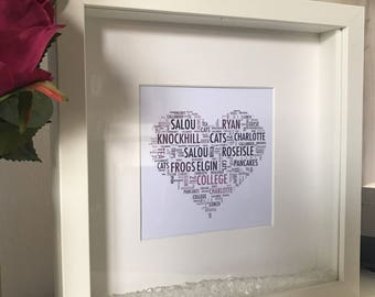 Special Word Cloud Frame