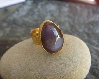 Purple jade ring