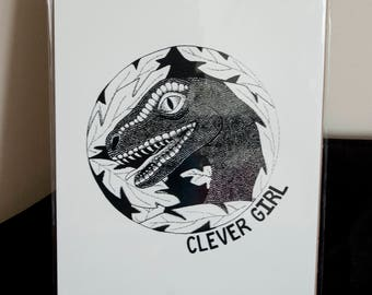Clever Girl A4 Print