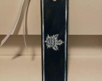 Distressed Toronto Maple Leafs NHL Wood Bookmark
