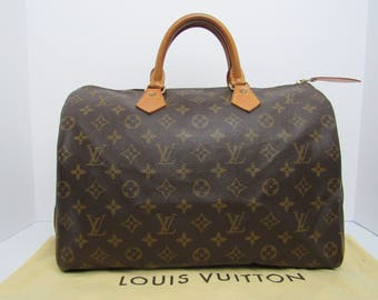 Authentic Louis Vuitton Speedy 35 Classic Vintage Handbag