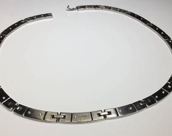 Estate Tiffany & Co. 18K White Gold 0.60 CTW Diamond Necklace 98.3 Grams