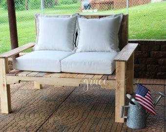 Reclaimed Wood Outdoor Loveseat