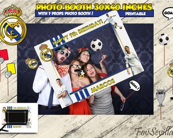 REAL MADRID photocall,Real Madrid Photo booth,Real Madrid Birthday,Real Madrid Party,Photocall Real Madrid,Photo booth Real Madrid, Madrid