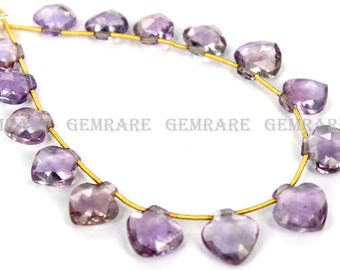 Natural Ametrine Apple Shape Faceted Beads, Quality AA, 9.50 to 10 mm, 18 cm, 17 pieces, AMETRI-031/1, Semiprecious Gemstone Beads