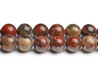 """Red poppy jasper 8mm poppy jasper beads red brecciated jasper earthy beads earthy stones full strand 15 1/2"""" red round beads red poppy beads"""