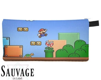 Super Mario World • Pencils - Makeup - Phone whatever you want little bag • handmade in montreal