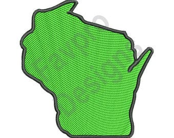 Wisconsin Map - Machine Embroidery Design