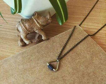 Necklace minimalist triangle