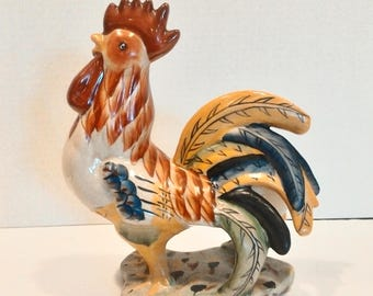 Hand painted Rooster Figurine