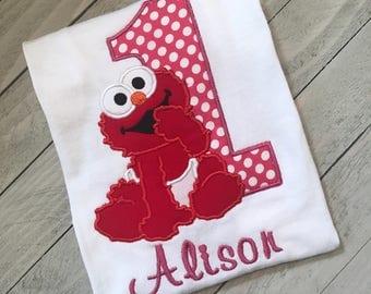 Elmo Birhday Shirt; 1st Birthday; Elmo 1st Birthday