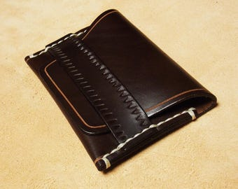 SIMPLE business card holder / / portfolio in cowhide URSUS / / leather accessories