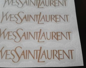 10 Yves Saint Laurent Stickers YSL Stickers YSL Decal Party Stickers Envelope seals Fashion Party Decor
