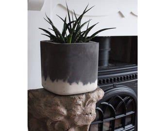 Thick Square Concrete Pot