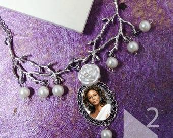 Whitney Houston charm necklace