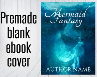 Premade Blank Book Cover - Mermaid Dive
