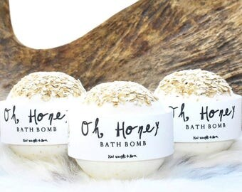 Oh, Honey Bath Bomb - Bath Bombs - Honey Vanilla & Oats Bath Bombs - Bath Fizzy - Wholesale Bath Bombs - Bath Bombs Bulk - Mothers Day Gift