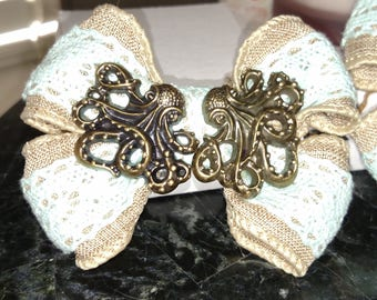 Octopus Hair Bows- Set of 2