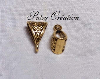 SET OF 3 GOLD TO YOUR JEWELRY BAIL PENDANT