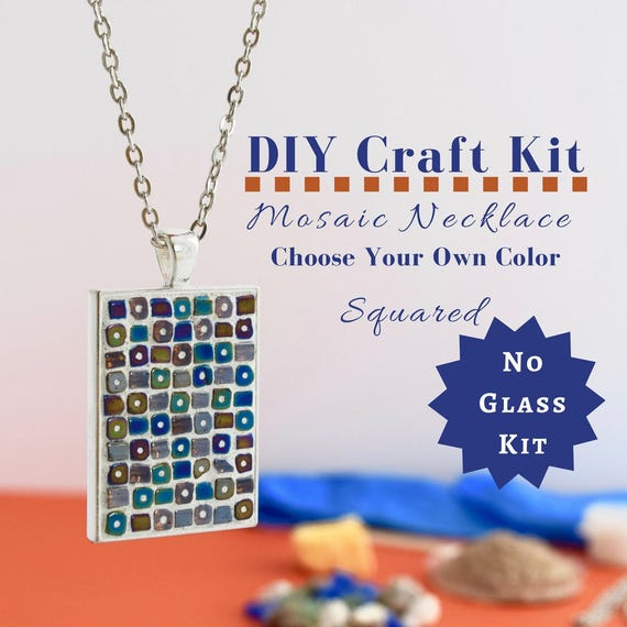 Do it yourself necklace making kit mosaic necklace diy kit like this item solutioingenieria Gallery