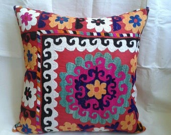 Suzani Pillow Cases,Suzani cushion,Enbroidered pillow,Decorative pillow