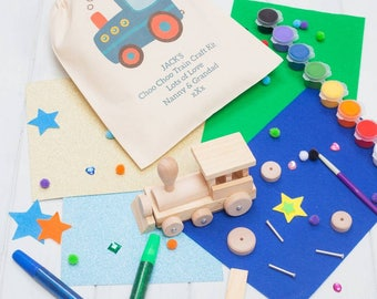 Personalised Make Your Own Mini Wooden Train Kit