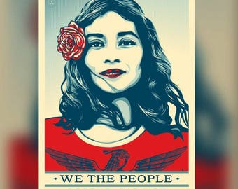 WE THE PEOPLE public poster (Defend Dignity )  poster HDPrint on Fine Paper.