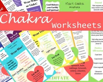 Chakra Worksheets
