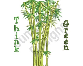 Think Green - Machine Embroidery Design